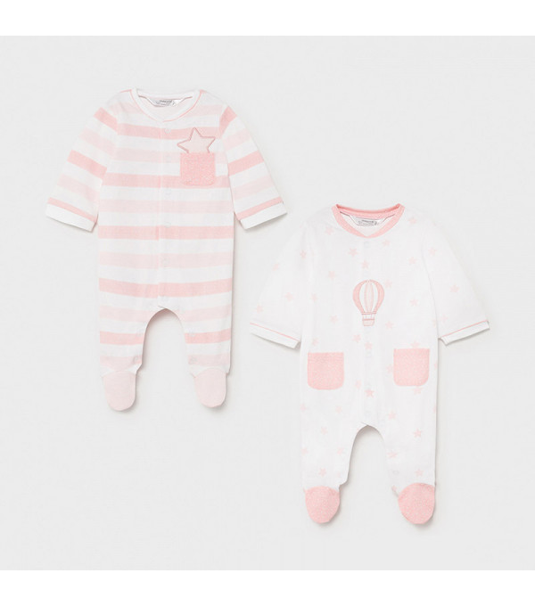 Set 2 pijamale nou-nascut roz 1625 MY-SET15X