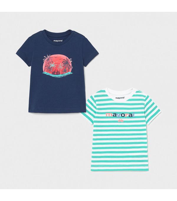 Set 2 tricouri maneca scurta bebe baiat 1015 MY-BL10X