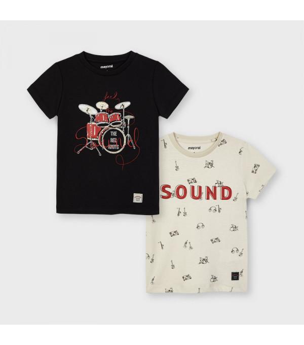 Set 2 tricouri maneca scurta sound baiat 3050 MY-BL18X