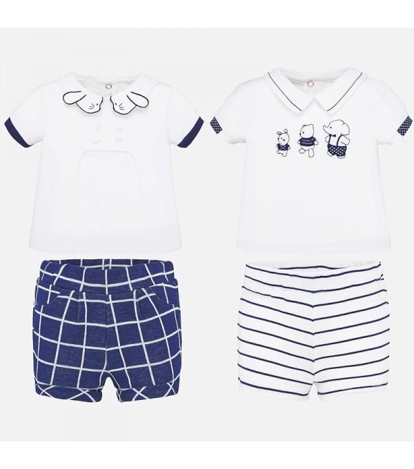 Set de tricouri și pantaloni scurți pentru nou-născuți Mayoral MY-SET09P