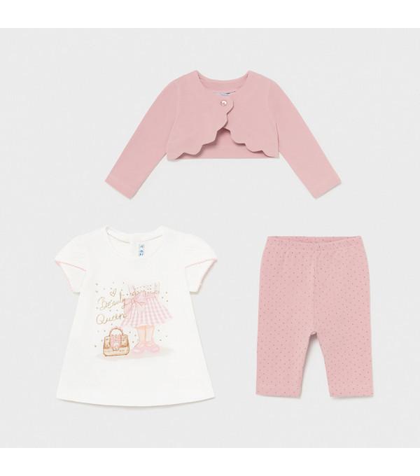 Set leggings 3 piese bebe fetita 1706 Mayoral MY-SET13X
