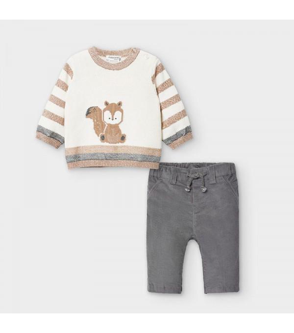 Set pulover animal nou-nascut baiat 02568 MY-COS106Y
