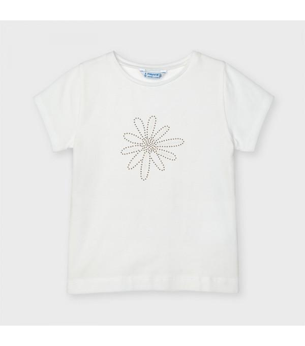 Tricou alb basic fetita 00174 MY-BL05X