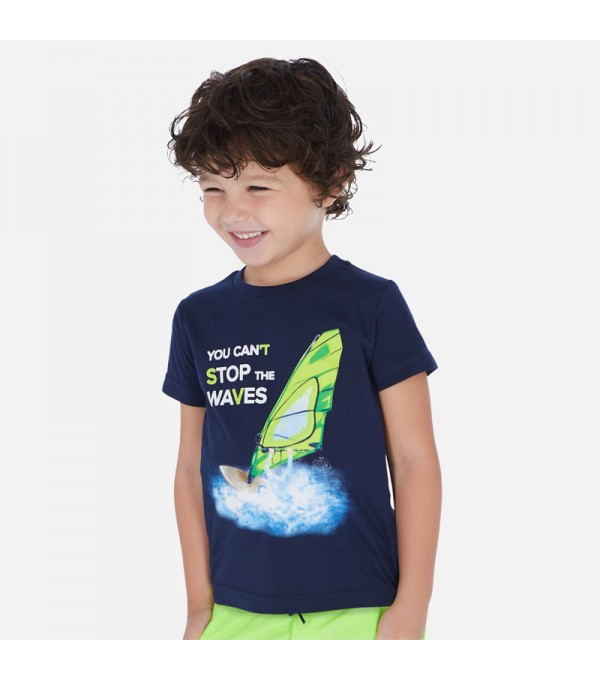 Tricou albastru baietei Mayoral 03068 MY-BL36P