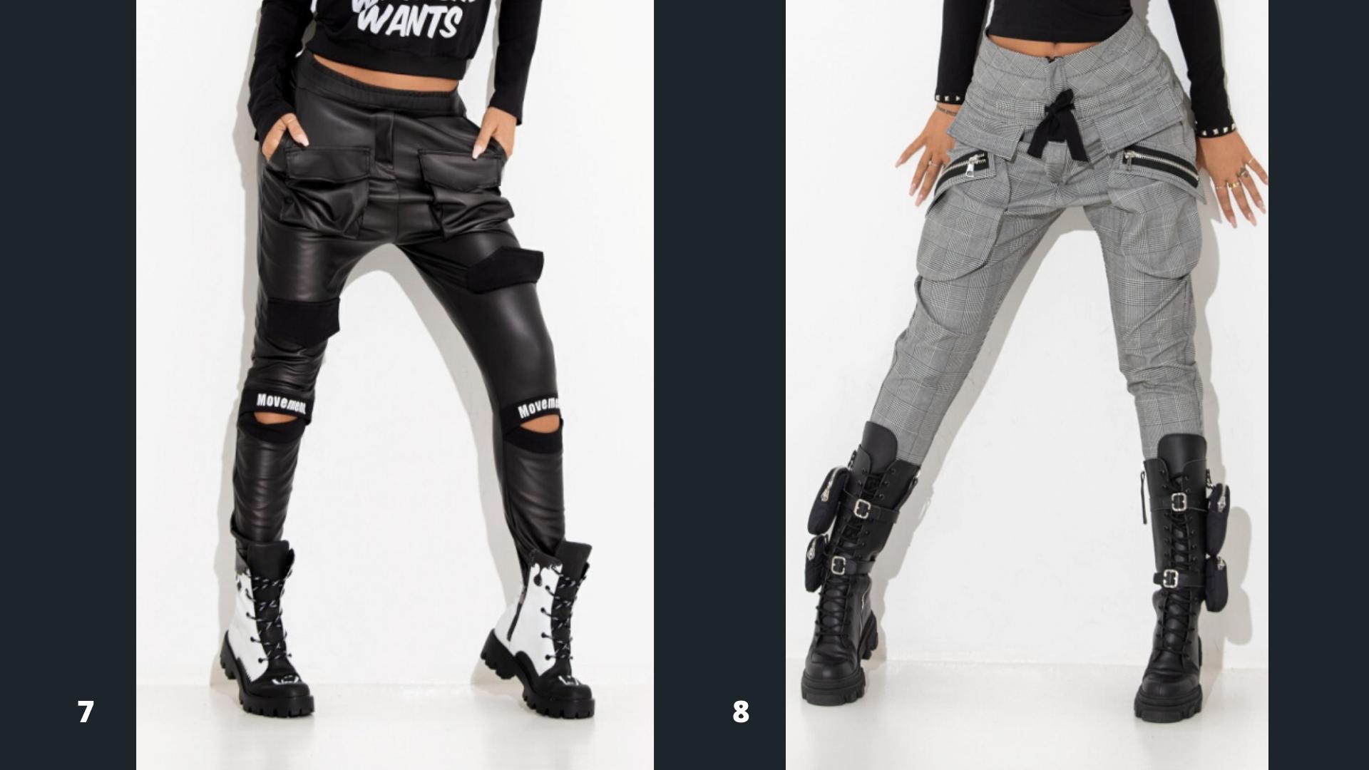 Pantaloni piele eco