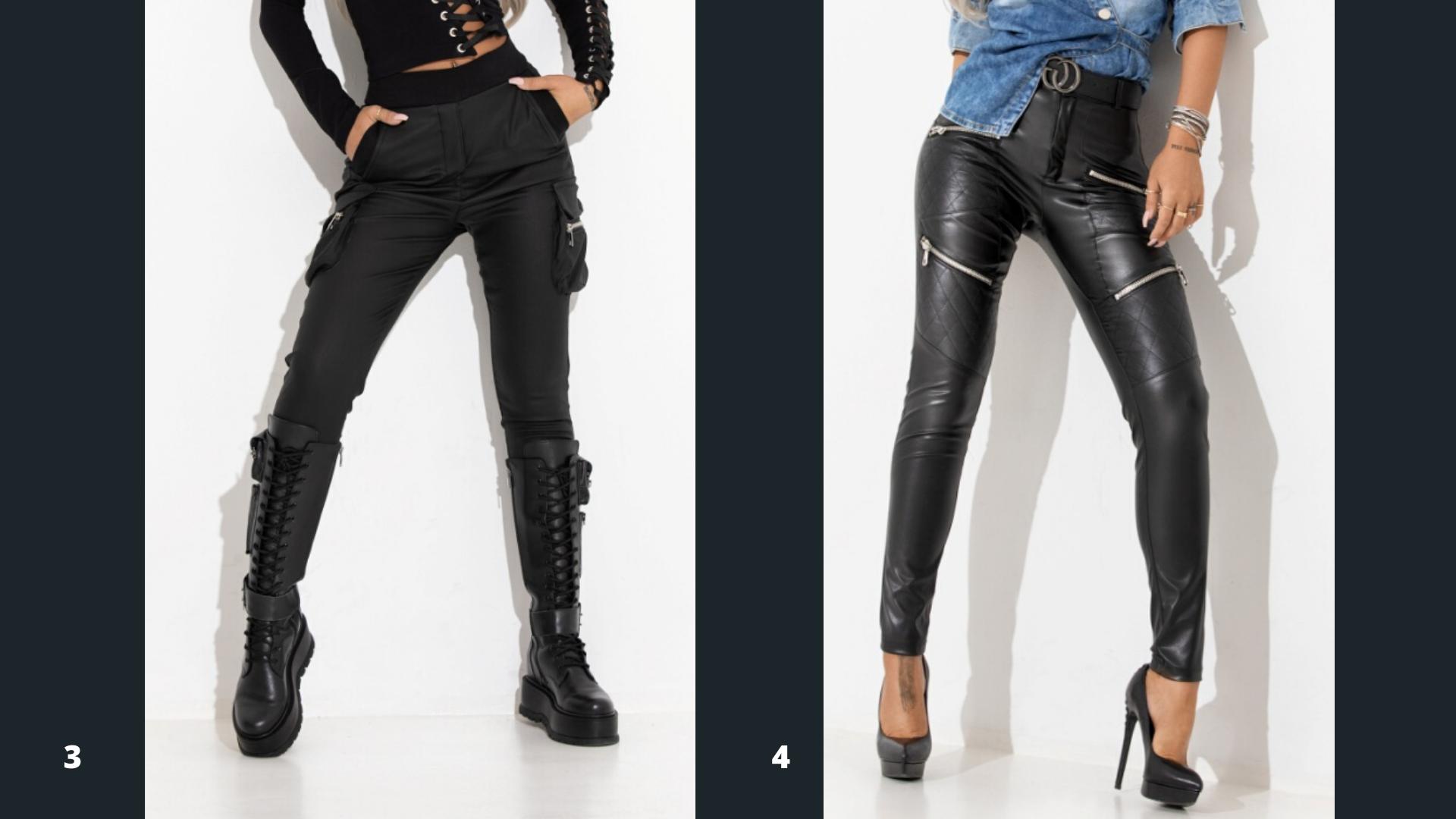 Pantaloni piele